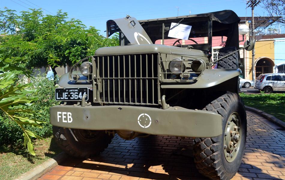 O imponente Dodge WC 51 de 1944 foi um dos veículos usados na Segunda Guerra