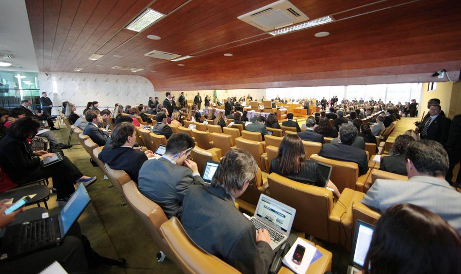 2 de agosto - Plenário cheio antes do início do julgamento
