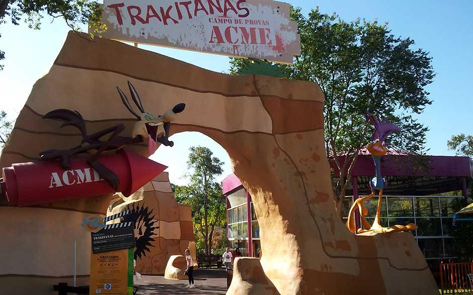 Área Looney Tunes do parque Hopi Hari, em Vinhedo