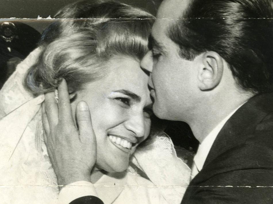 Casamento de Hebe Camargo com o empresário Décio Capuano.