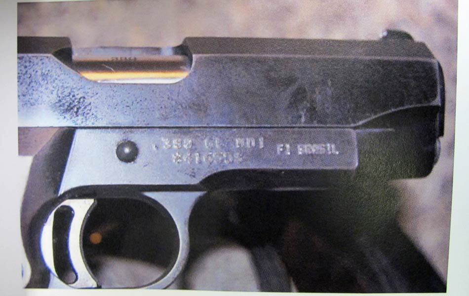"""LaudoO: """"Identificação da arma"""", segundo descrito no laudo."""