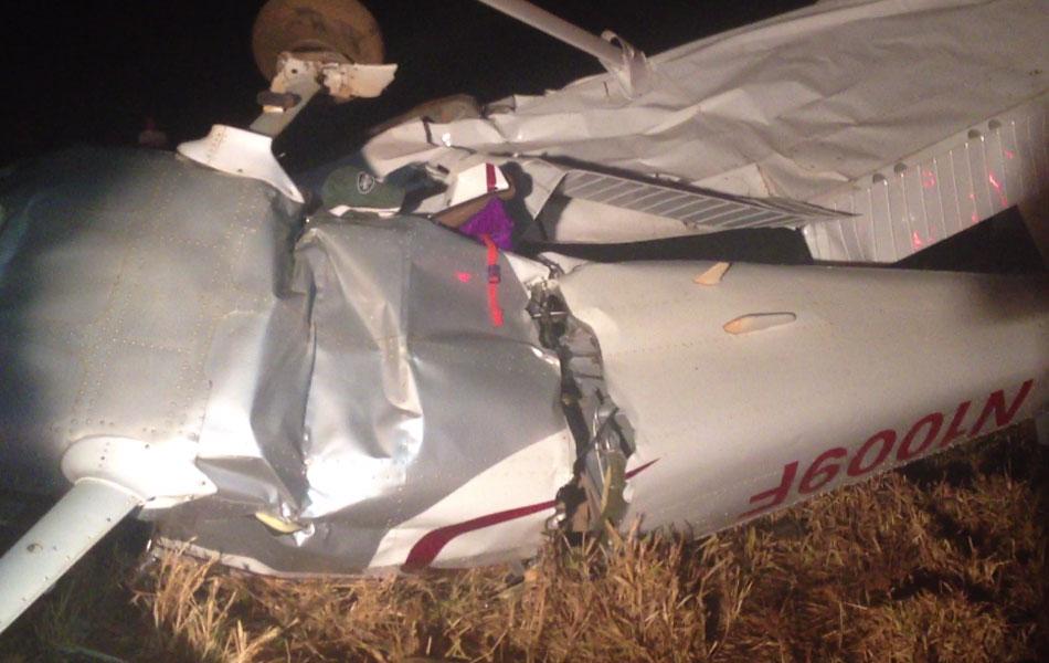Avião monomotor que fazia voo panorâmico cai e mata quatro pessoas em Acreúna, Goiás