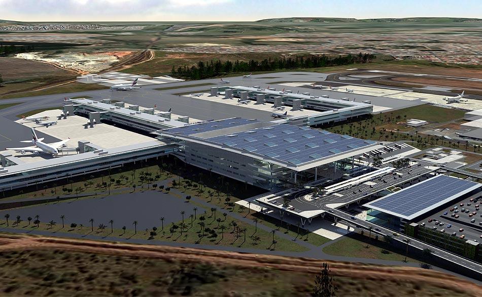 Perspectiva do plano de ampliação do aeroporto de Viracopos,em Campinas (SP)
