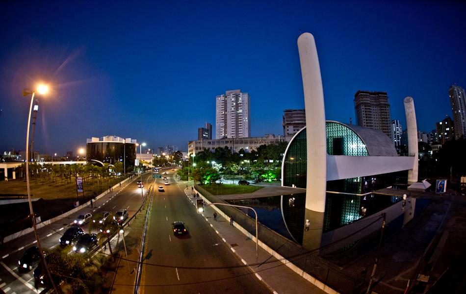 Memorial da América Latina ocupa uma área de 84.480 m², no bairro da Barra Funda