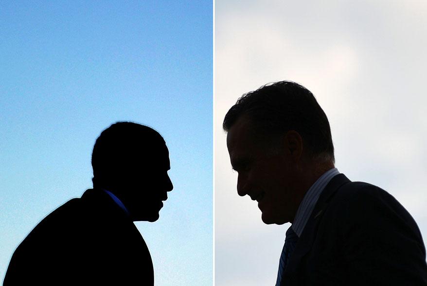 A menos de um mês das eleições presidenciais nos EUA, uma série de imagens mostra o quanto as cenas têm se repetido entre Barack Obama, Mitt Romney e suas respectivas famílias nos eventos de campanha em todo o país em busca de votos.