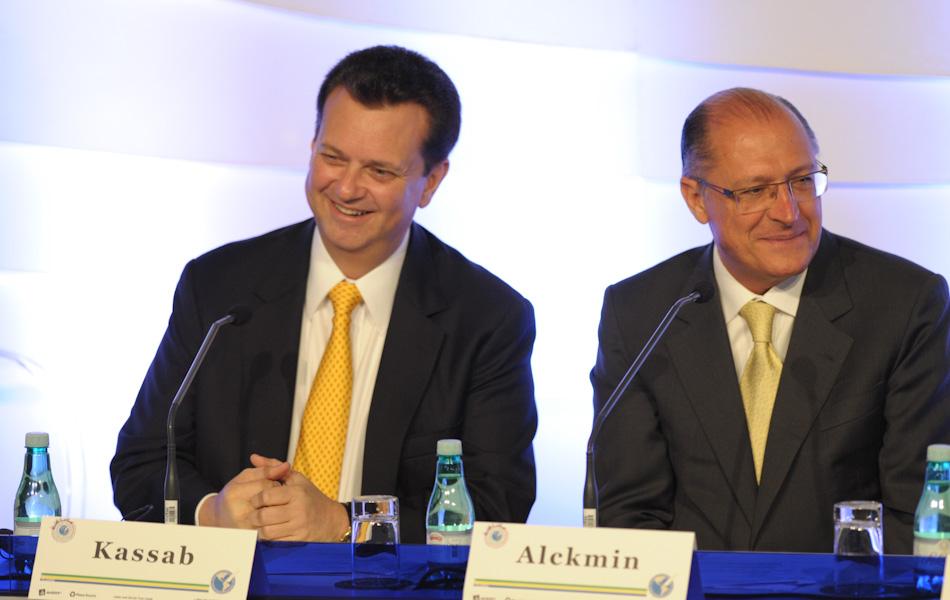 15 de outubro – O prefeito da cidade de São Paulo, Gilberto Kassab, e o governador de São Paulo, Geraldo Alckmin