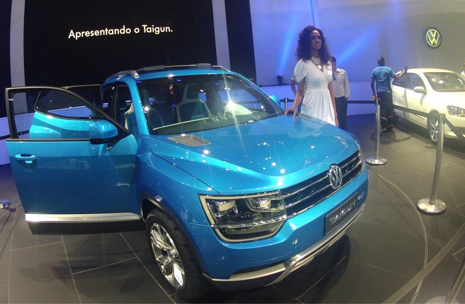 Taigun foi lançado mundialmente no Salão do Automóvel de São Paulo