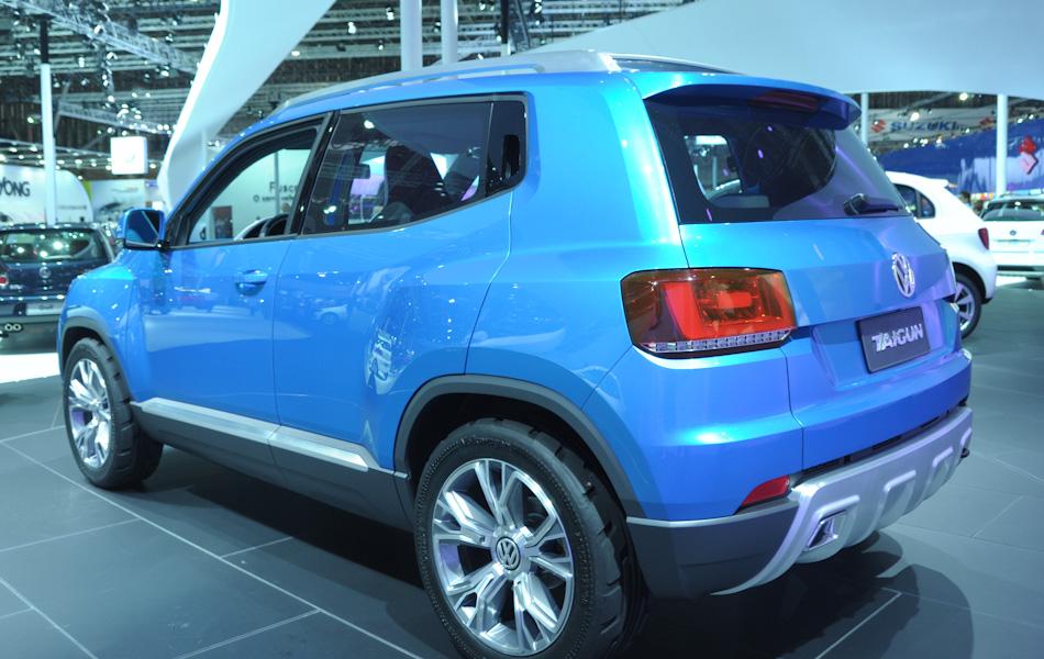 A Volkswagen guardou uma surpresa para o Salão do Automóvel de SP: o SUV Taigun, mostrado pela primeira vez no mundo