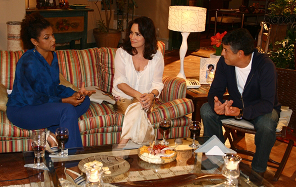 Na novela 'Páginas da vida', ele viveu o médico Diogo, em cena com Elisa Lucinda (Selma) e Regina Duarte (Helena)