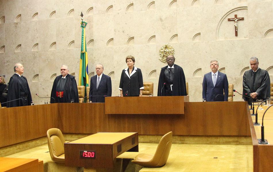 Solenidade de posse do presidente e vice-presidente da Corte, ministros Joaquim Barbosa e Ricardo Lewandowski