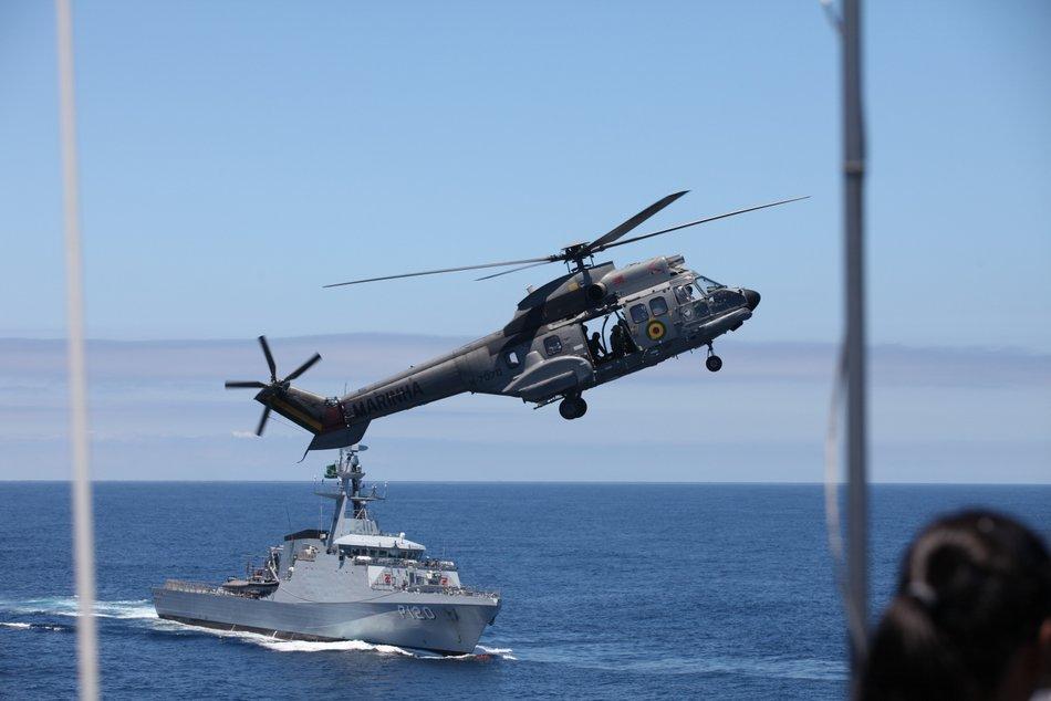 Operação Atlântico III fez simulação de ataque a navios em alto-mar