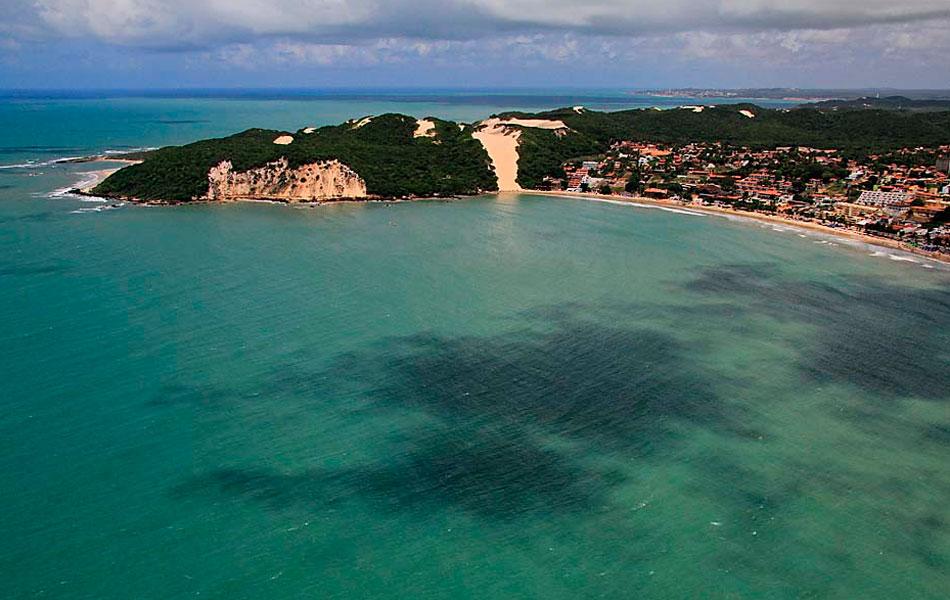 Morro do Careca, na praia de Ponta Negra, com seus mais de 100 metros de altura