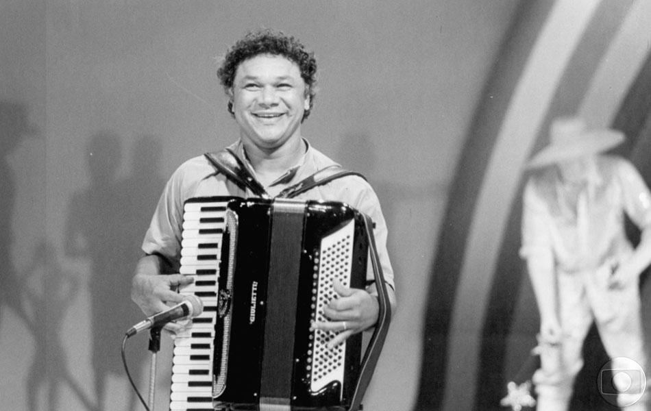 Dominguinhos durante uma gravação do programa Som Brasil.