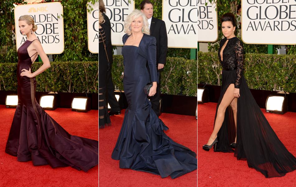 Taylor Swift, Glenn Close e Eva Longoria posam na chegada ao Globo de Ouro 2013