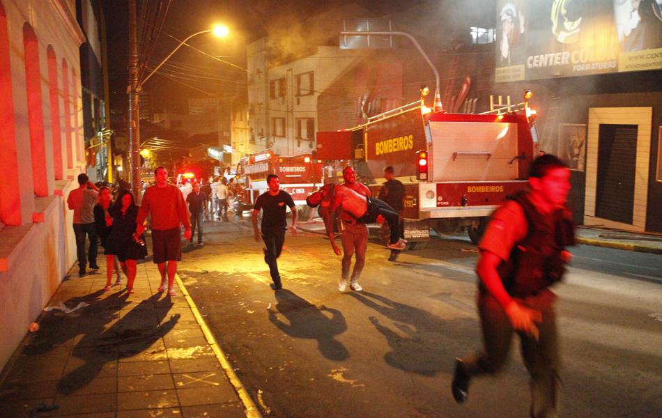 O incêndio foi na boate Kiss, em Santa Maria, na Região Central do Rio Grande do Sul