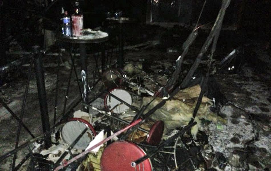 27 de janeiro - Interior da boate Kiss, após incêndio ocorrido na madrugada de domingo (27)