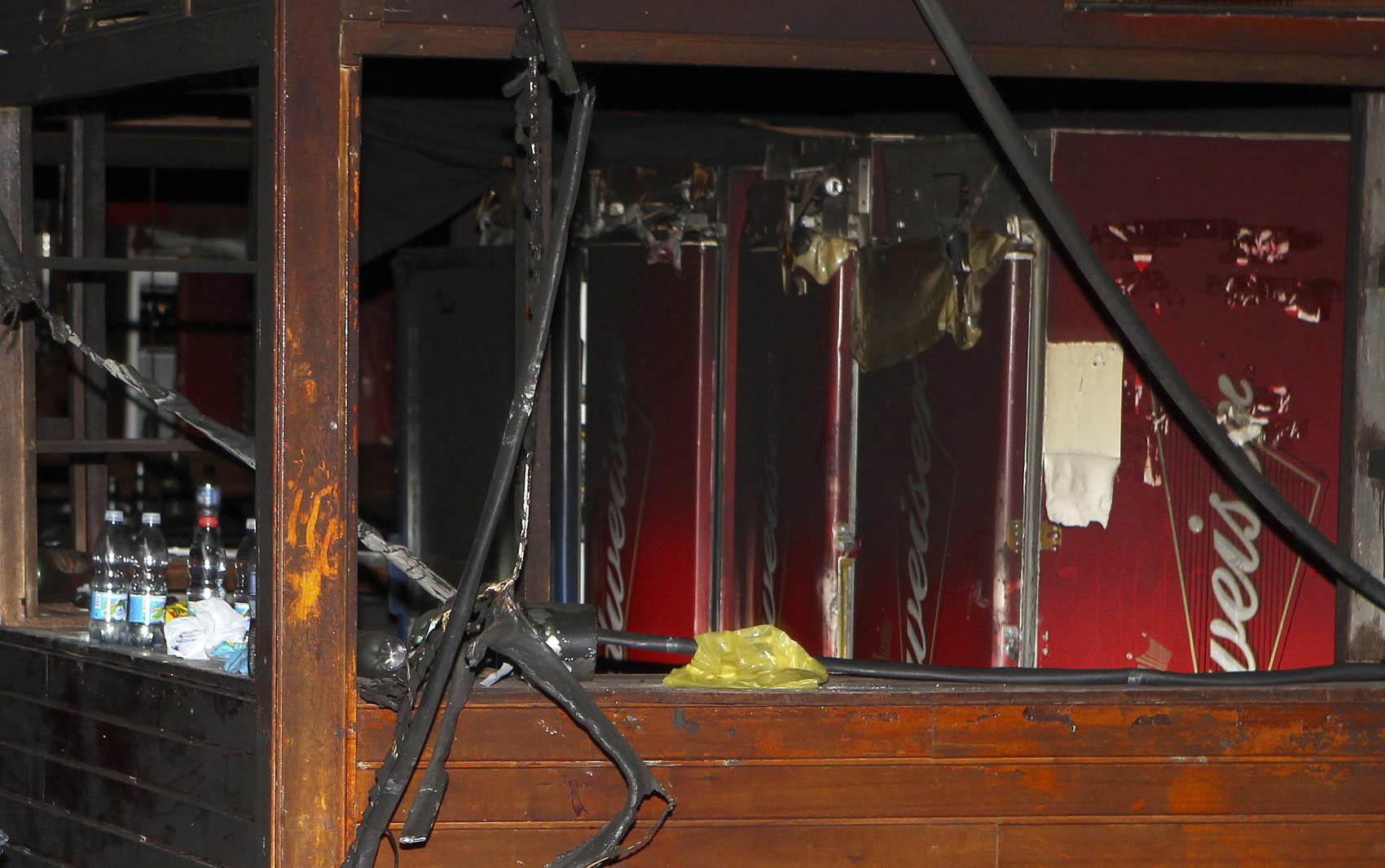 Bar no interior da boate Kiss