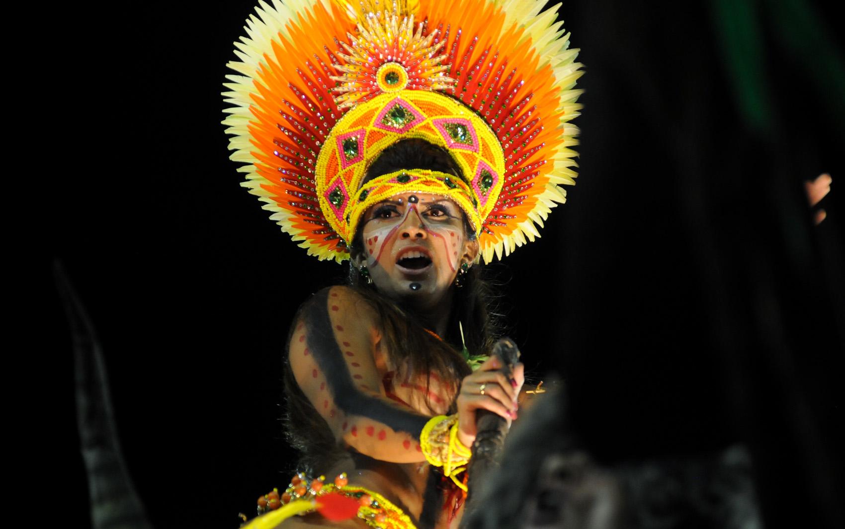 12/2/2013 - Destaque da  Imperatriz Leopoldinense, que levou a história e a cultura do Pará para a Avenida