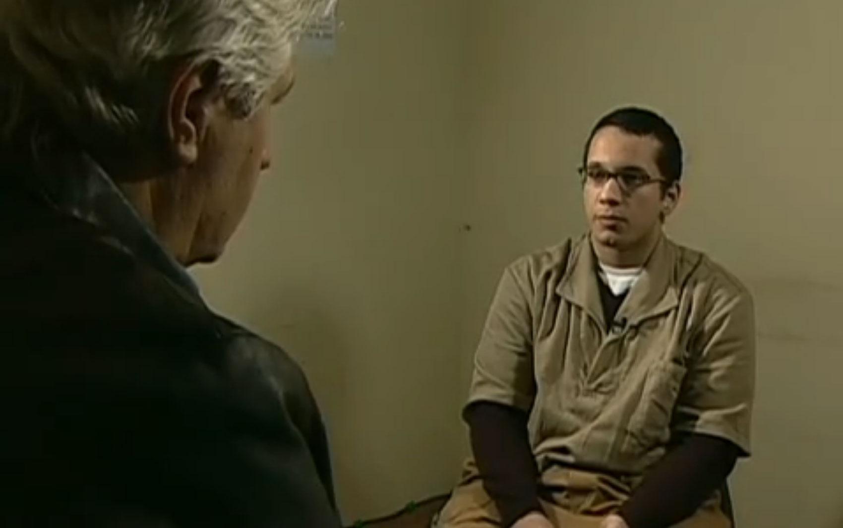 Durante o período em que esteve preso, Gil Rugai deu entrevista ao repórter Valmir Salaro: 'Eu perdi a liberdade e perdi meu pai. Enquanto eu tiver fé, vou continuar tranquilo. No dia em que eu perder, não tenho mais nada.'