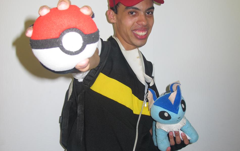 Luan Nascimento, de 22 anos, usou o cosplay de Ash, do famoso anime Pokemón