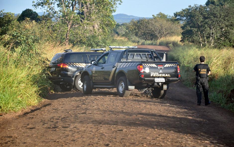Polícia Federal fecha acesso à fazenda Buriti, em Sidrolândia