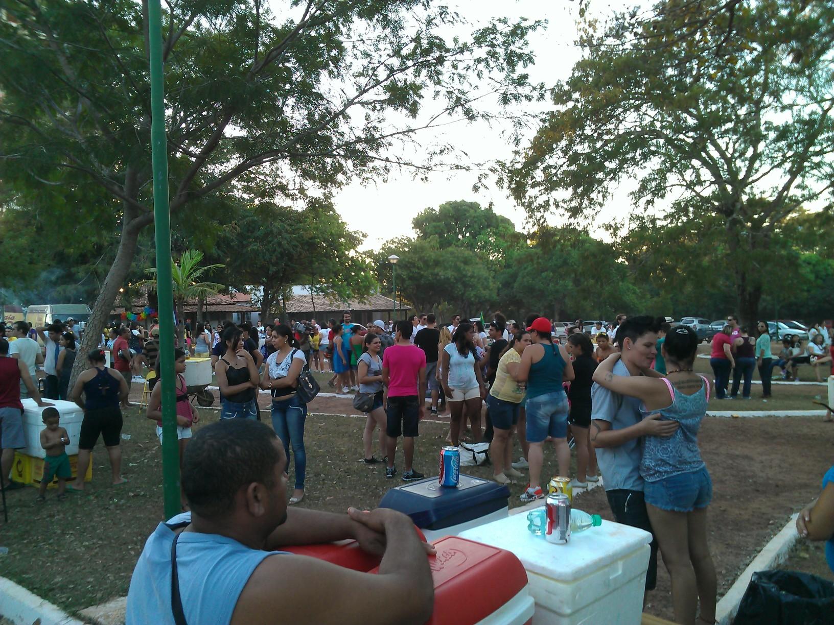 Inicio da concentração no Parque Cesamar para 10º Parada da Diversidade