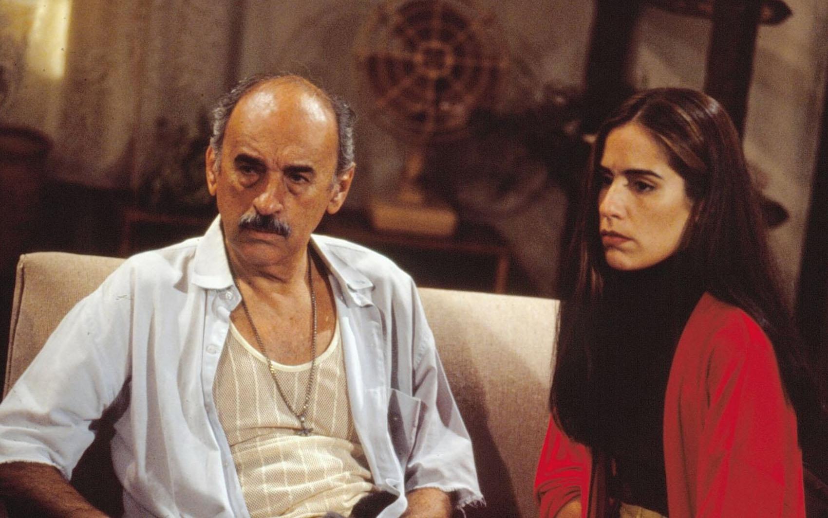 Gloria Pires e Sebastião Vasconcelos, como Floriano em Mulheres de Areia