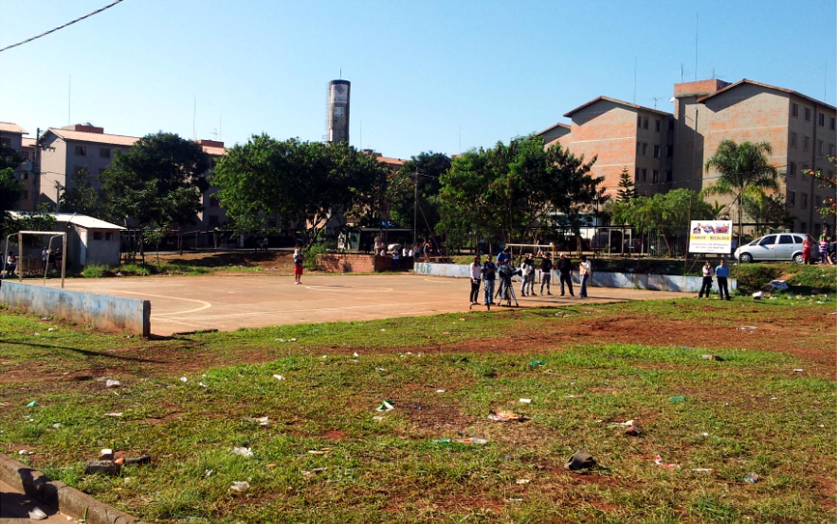 Conjunto habitacional em Campinas onde o MC Daleste foi baleado