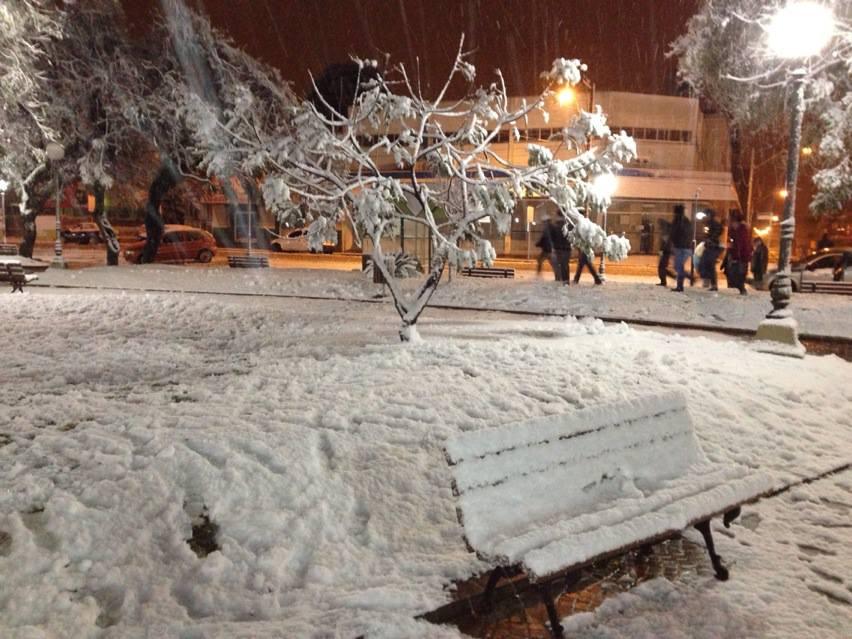Neve em Vacaria registrada por telespectadora do Bom Dia Rio Grande