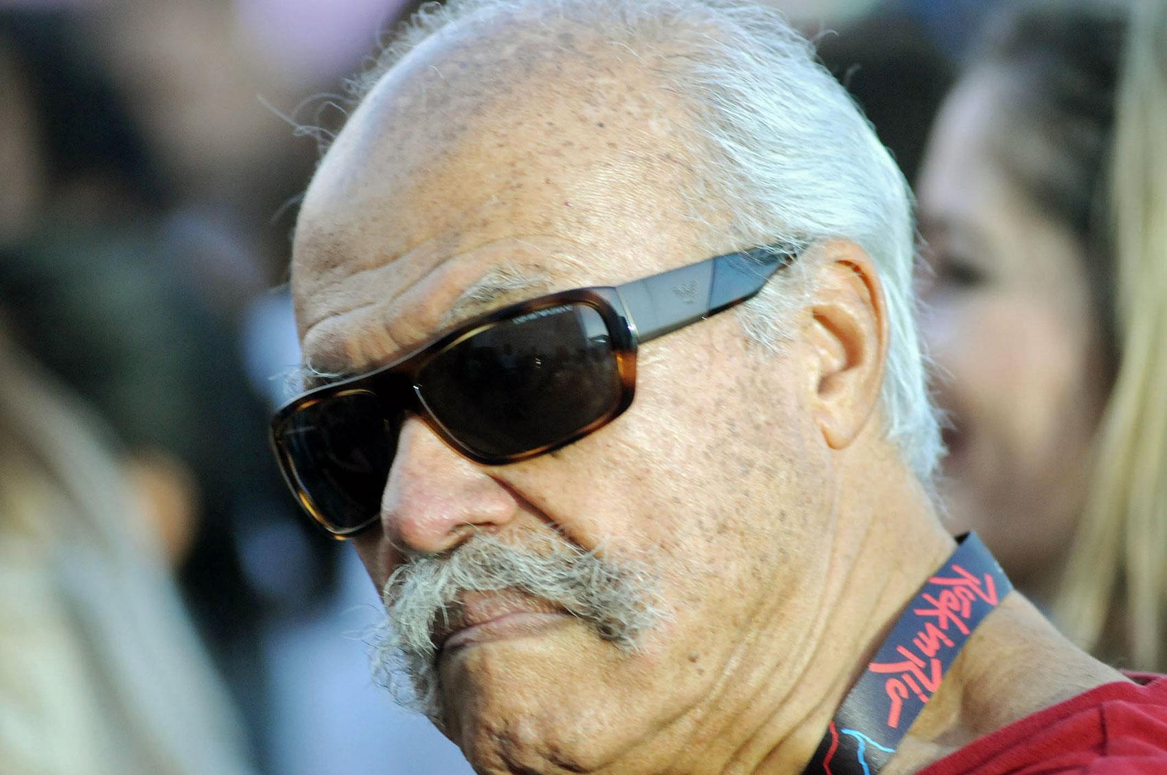 Veterano com mustache (bigode, em inglês) estiloso curtiu o sexto dia de shows do Rock in Rio.