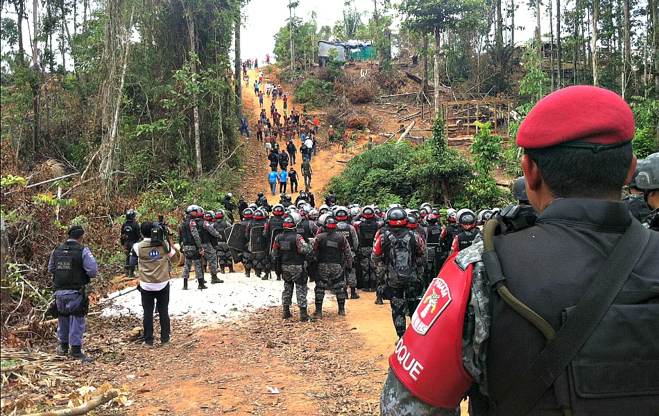 400 policiais participaram da reintegração de posse no município de Iranduba