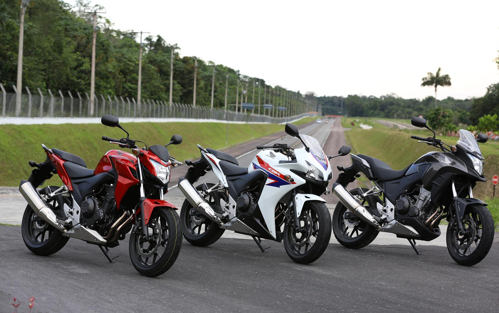 Nova linha CB é formada pelos modelos 500F, 500X e 500R