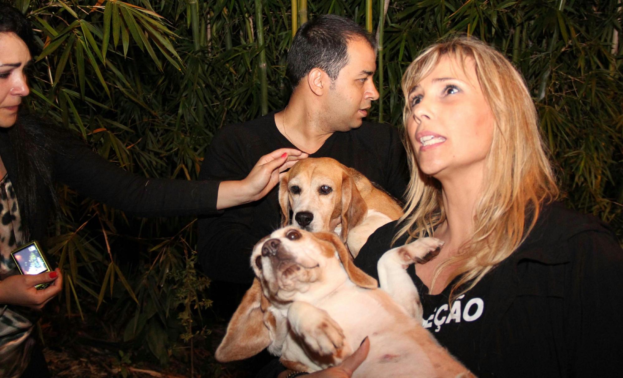 Cerca de cem ativistas de diversas ONGs que cuidam de animais invadem o laboratório Royal, em São Roque, para libertar os cachorros alegando que eles sofrem de maus tratos