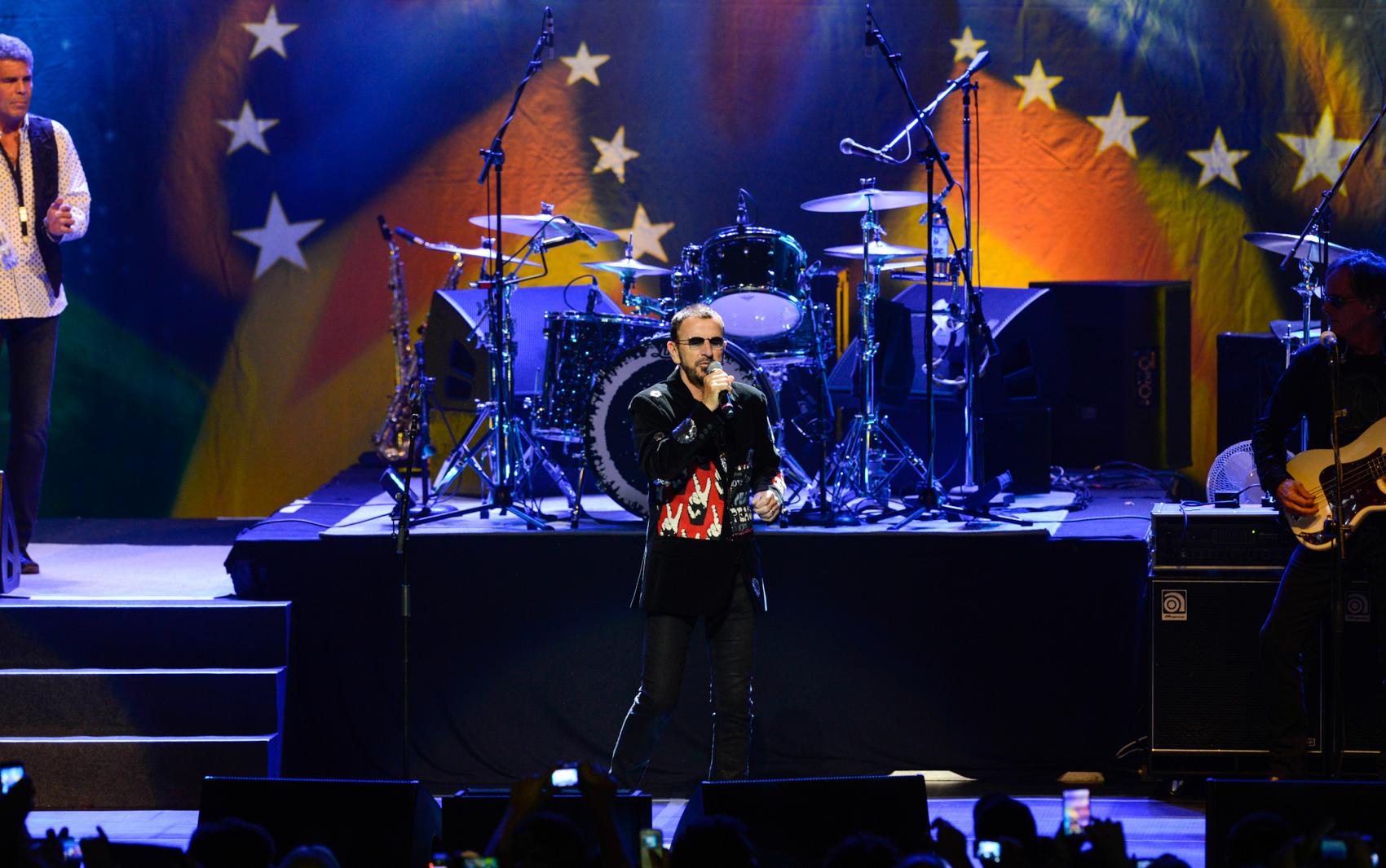 Ringo Starr se apresenta em São Paulo em show no Credicard Hall.