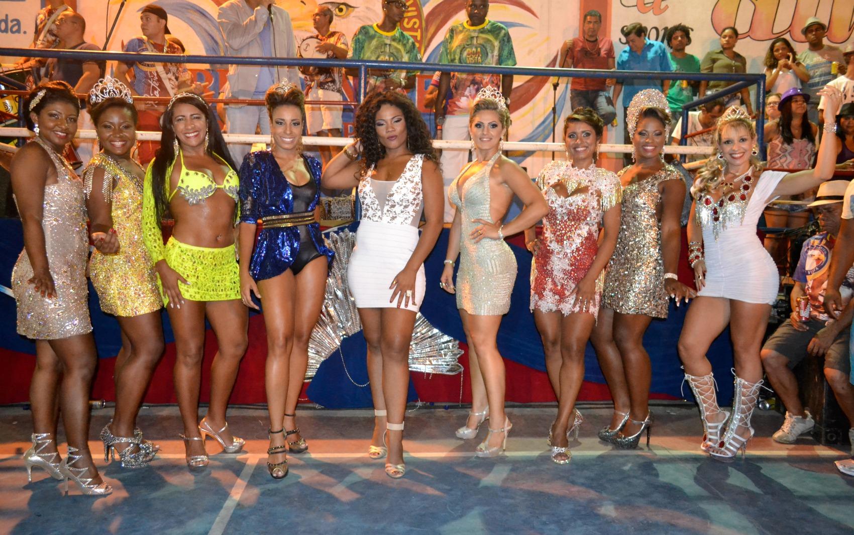 Rainhas de bateria das escolas de samba da Grande Vitória se reúnem na quadra da Boa Vista.