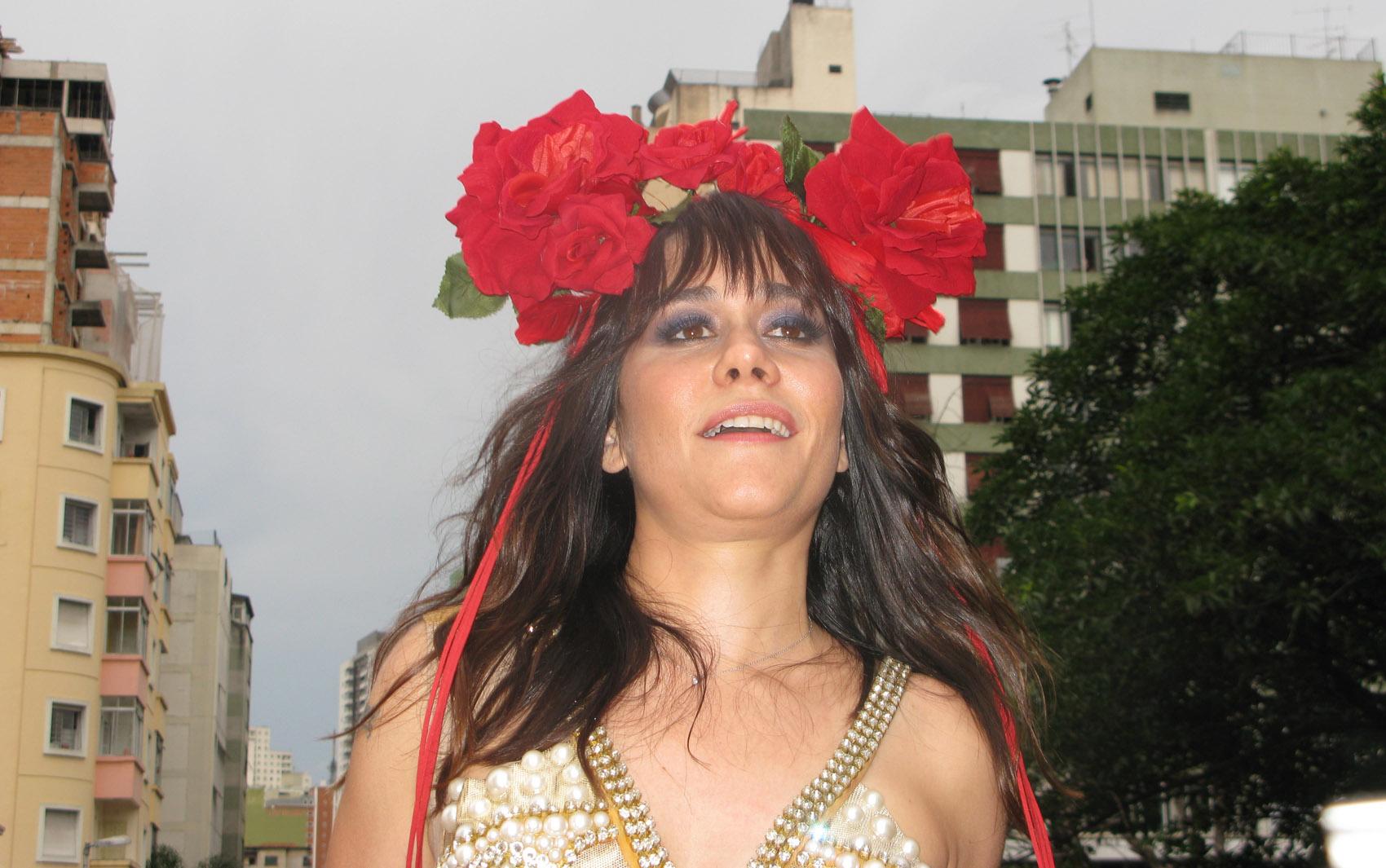 Alessandra Negrini no Bloco Acadêmicos do Baixa Augusta