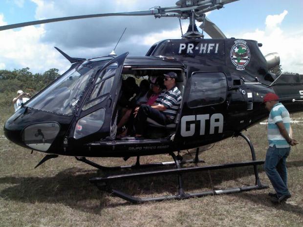 Passageiros resgatados pelo GTA