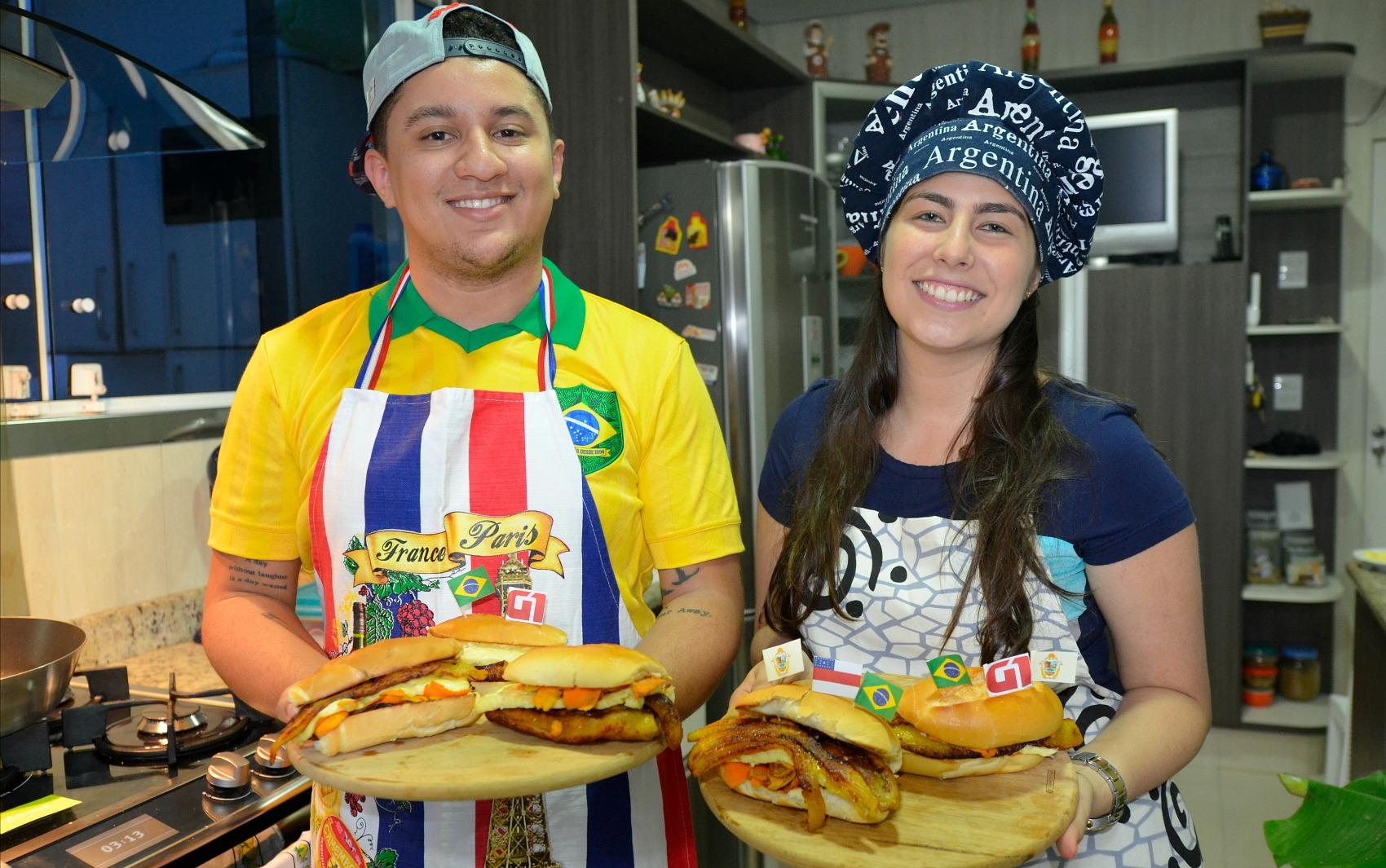 A receita do X-Caboquinho foi preparada pelos blogueiros culinários Victor Israel e Adriana Mannarino, do blog local 'É de comer?'.