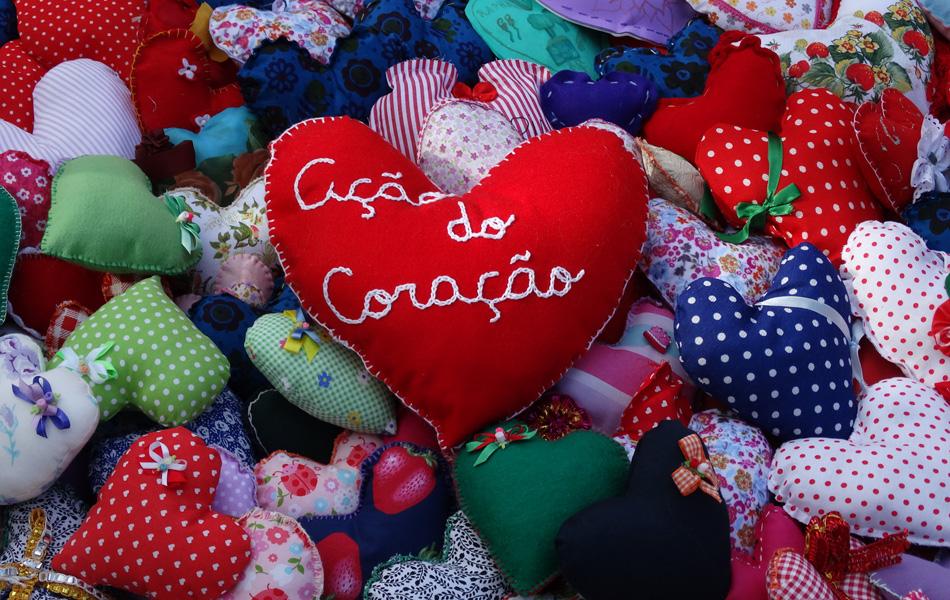 Ação do Coração aconteceu neste sábado (2), em Santos, no litoral de São Paulo