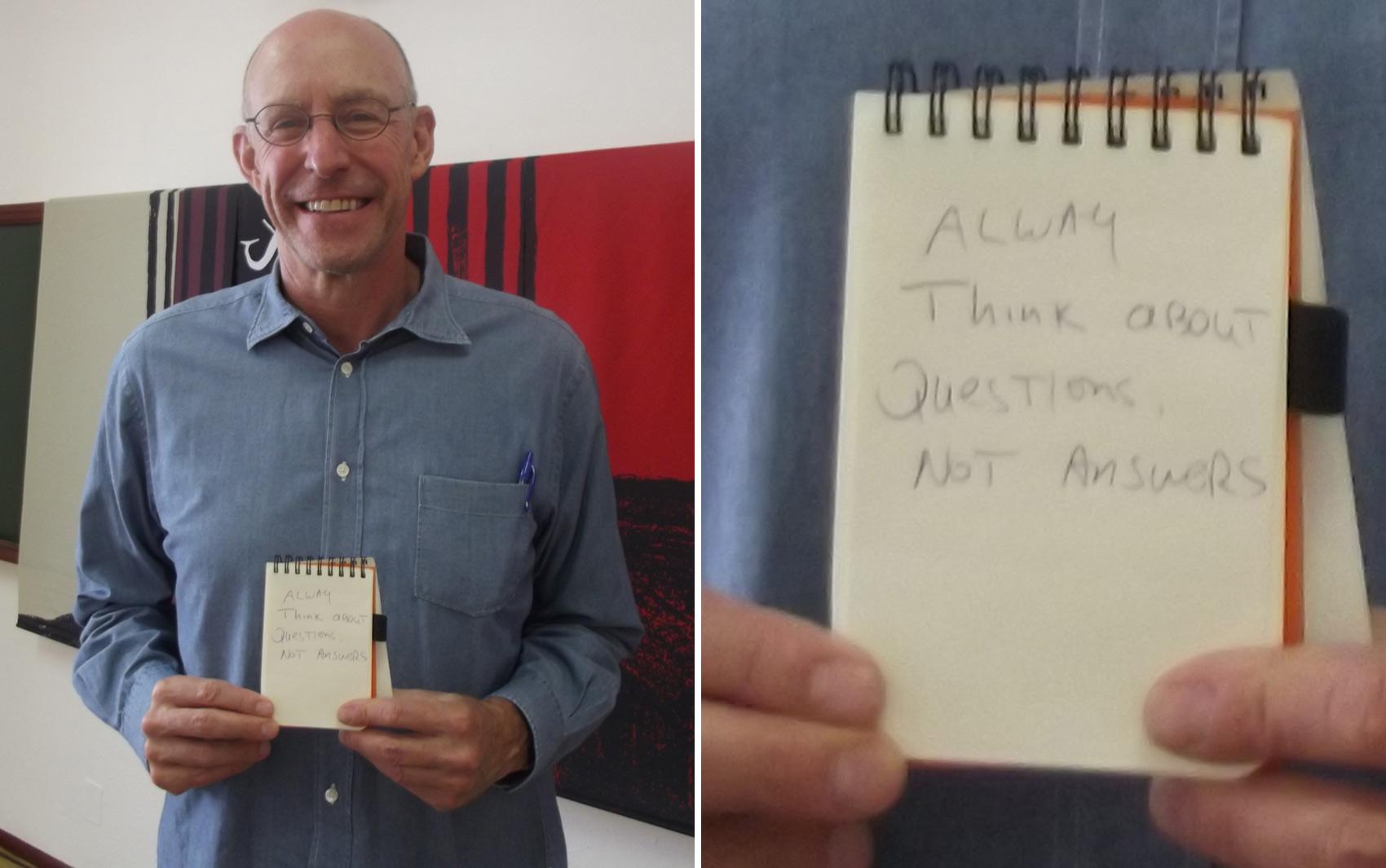 """Michael Pollan, autor de 'O dilema do onívoro': """"Preocupe-se sempre com perguntas, não com respostas""""."""