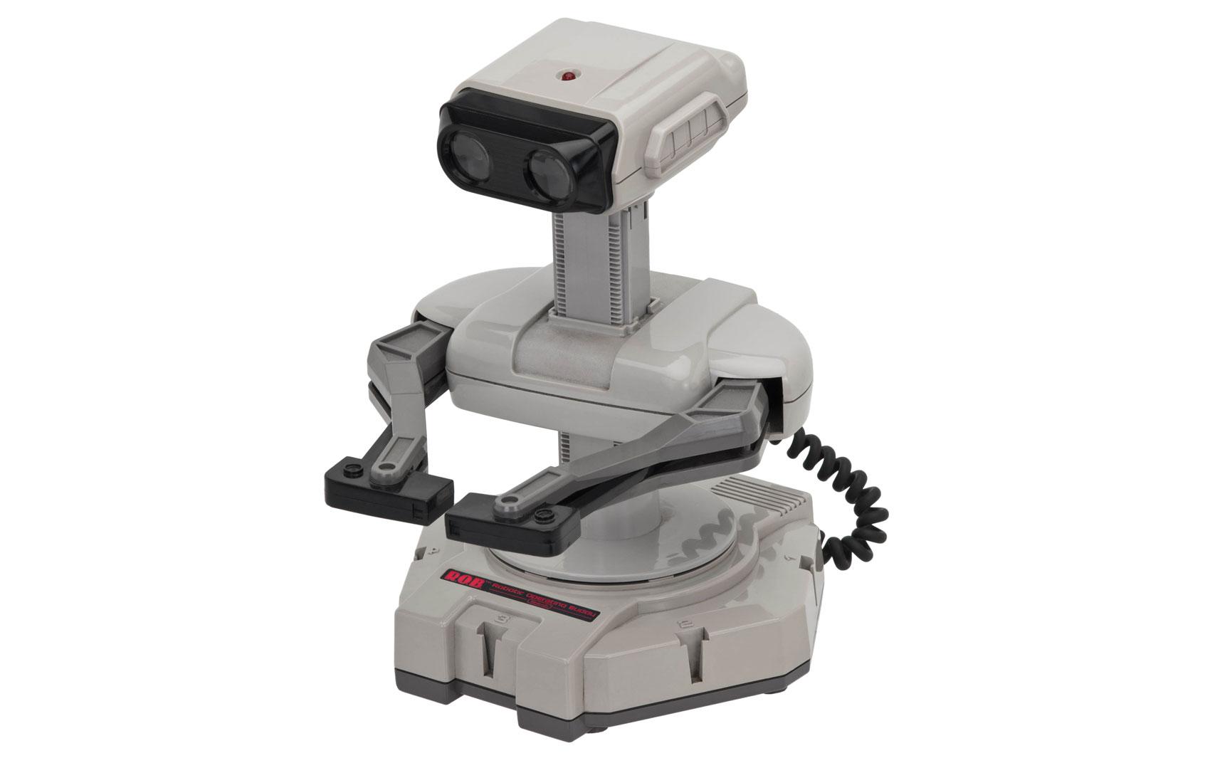 Robô ROB (Robotic Operating Buddy) era um companheiro para jogar games multiplayer que acompanhava o Nintendinho, lançado em 1985.