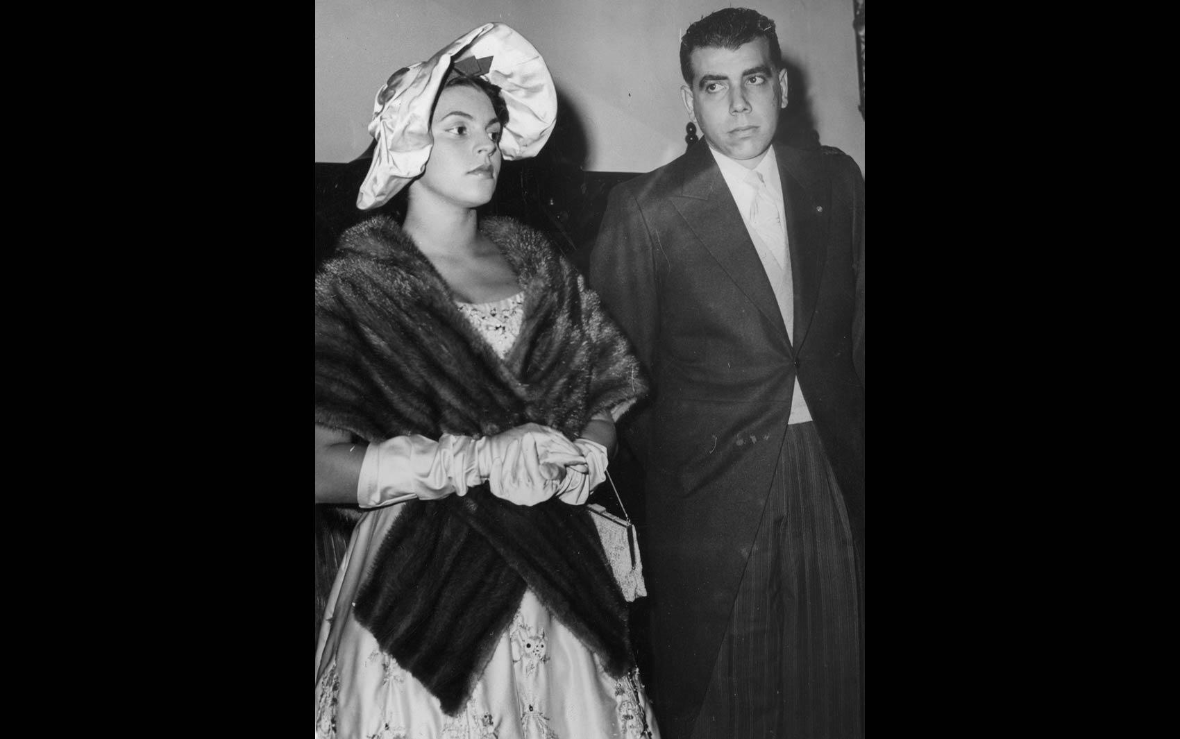 Antonio Ermírio de Moraes e sua esposa, em foto de abril de 1958