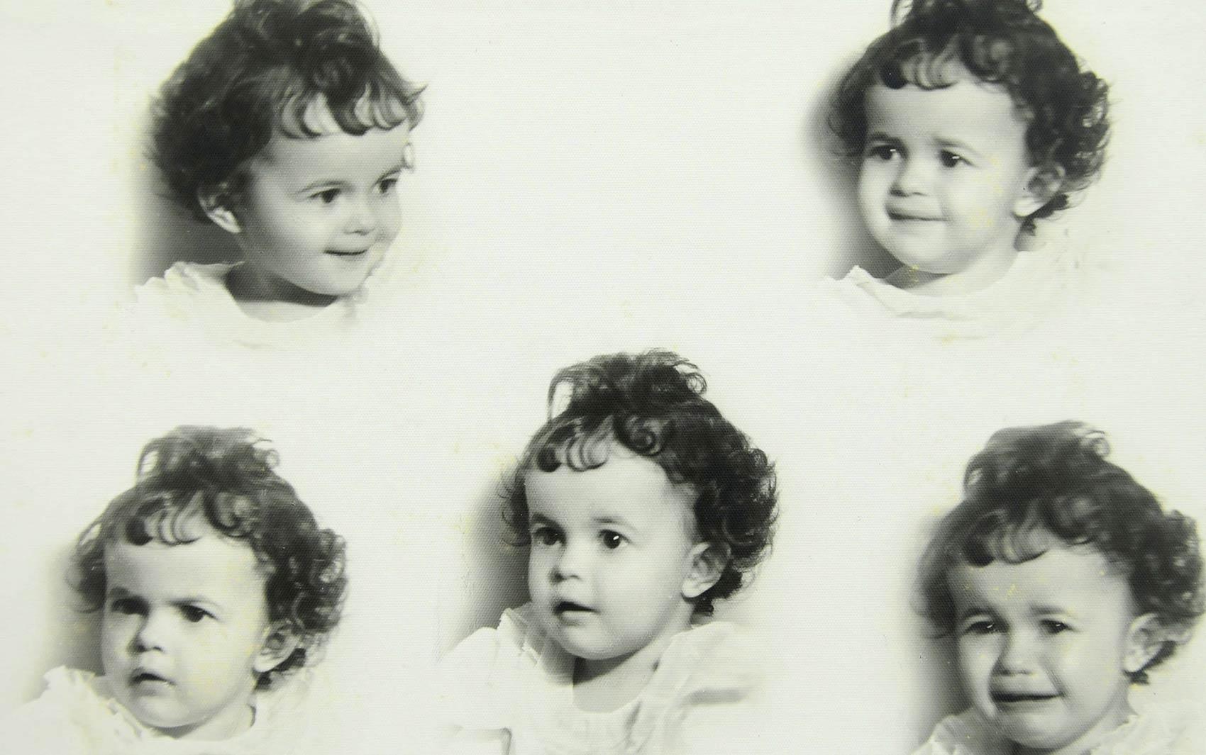 Montagem do rosto de Dilma quando bebê, em 1948