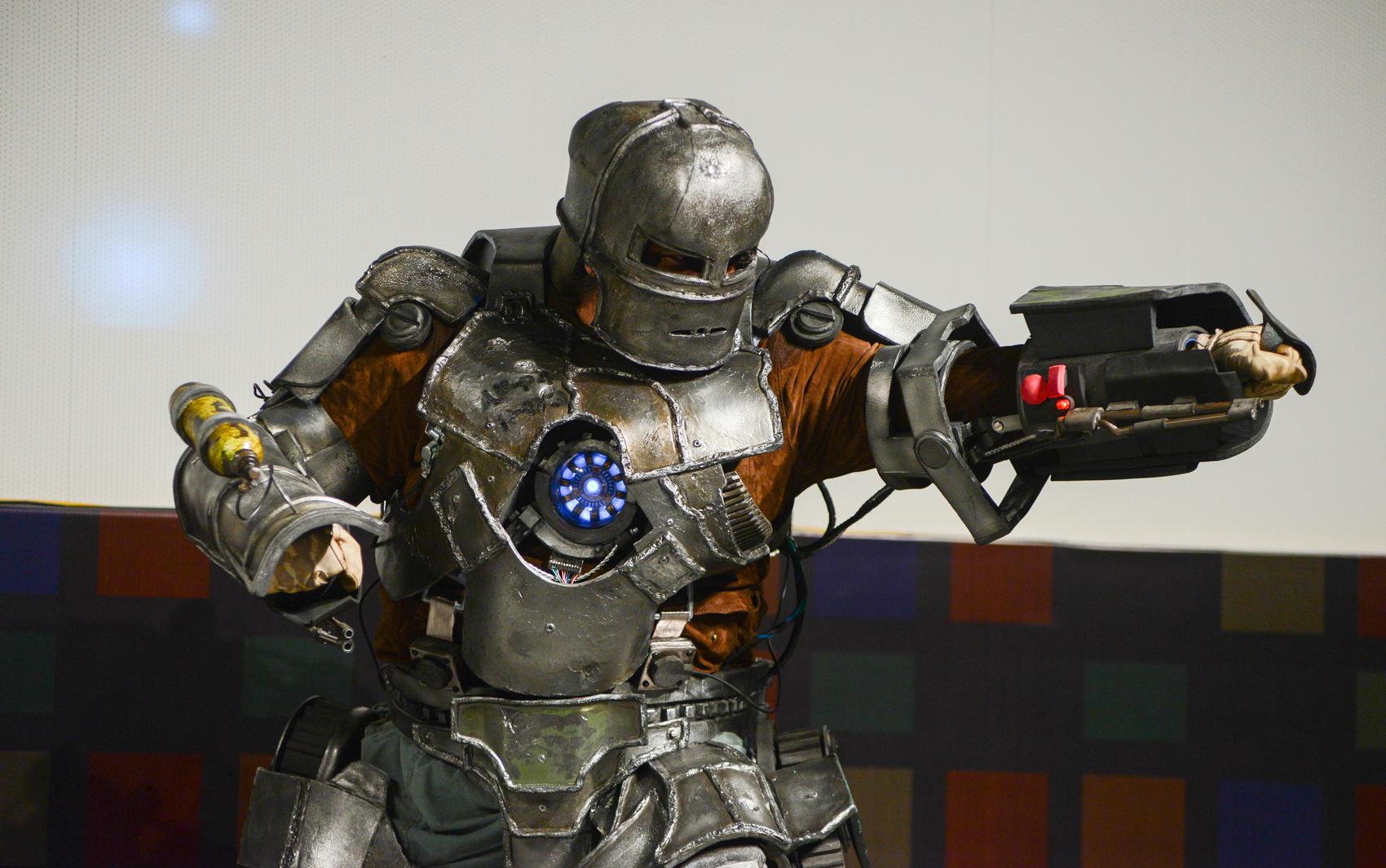 Hermes Barreto venceu na categoria de melhor cosplay individual com seu traje de Homen de Ferro