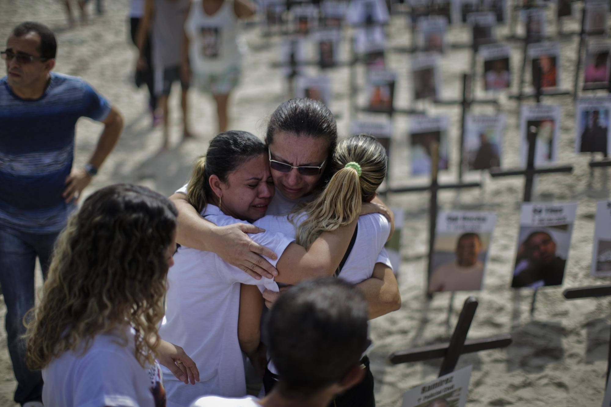 Protesto contra a violência em Copacabana
