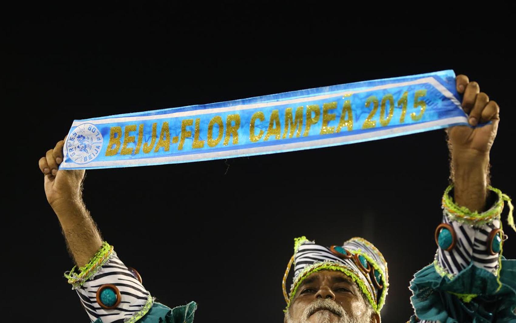 BEIJA-FLOR: A escola de Nilópolis conquistou seu 13º título do Grupo Especial do carnaval do Rio