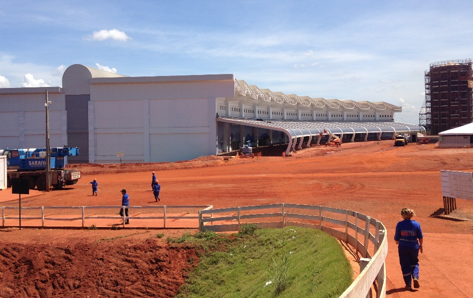 Visão geral da obra do novo terminal do aeroporto de Goiânia