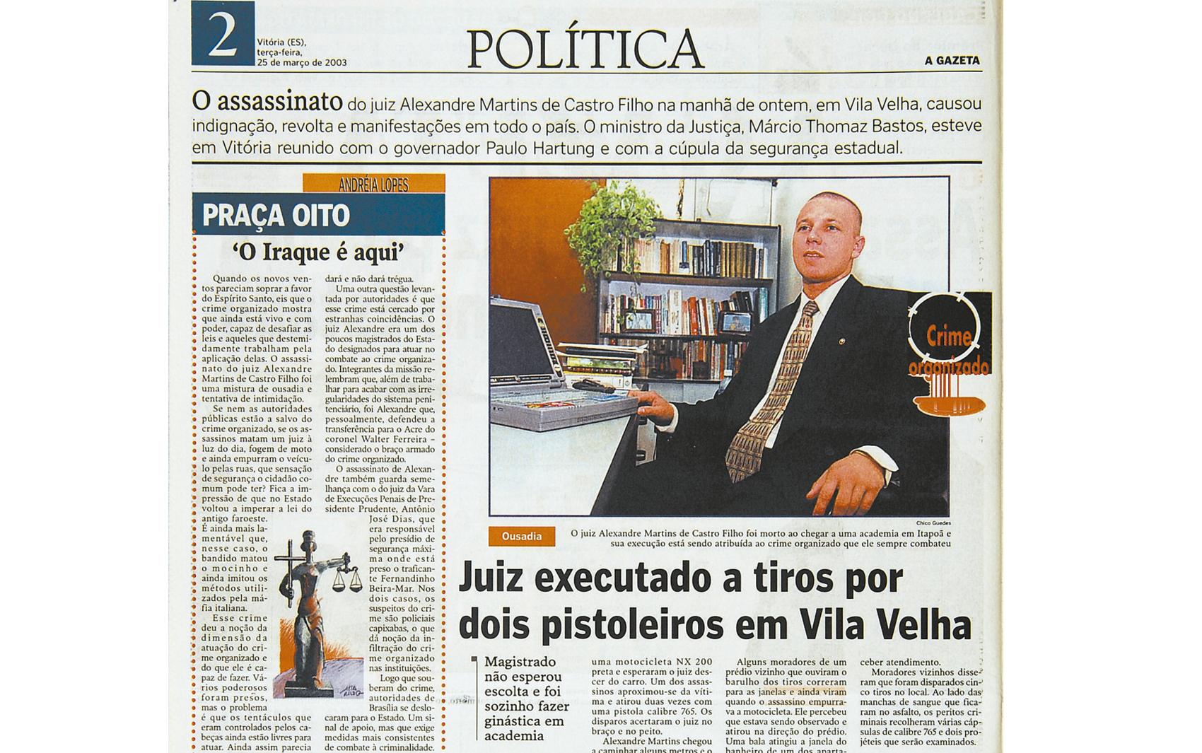 Arquivo: Juiz Alexandre Martins é morto a tiros em Vila Velha, no Espírito Santo