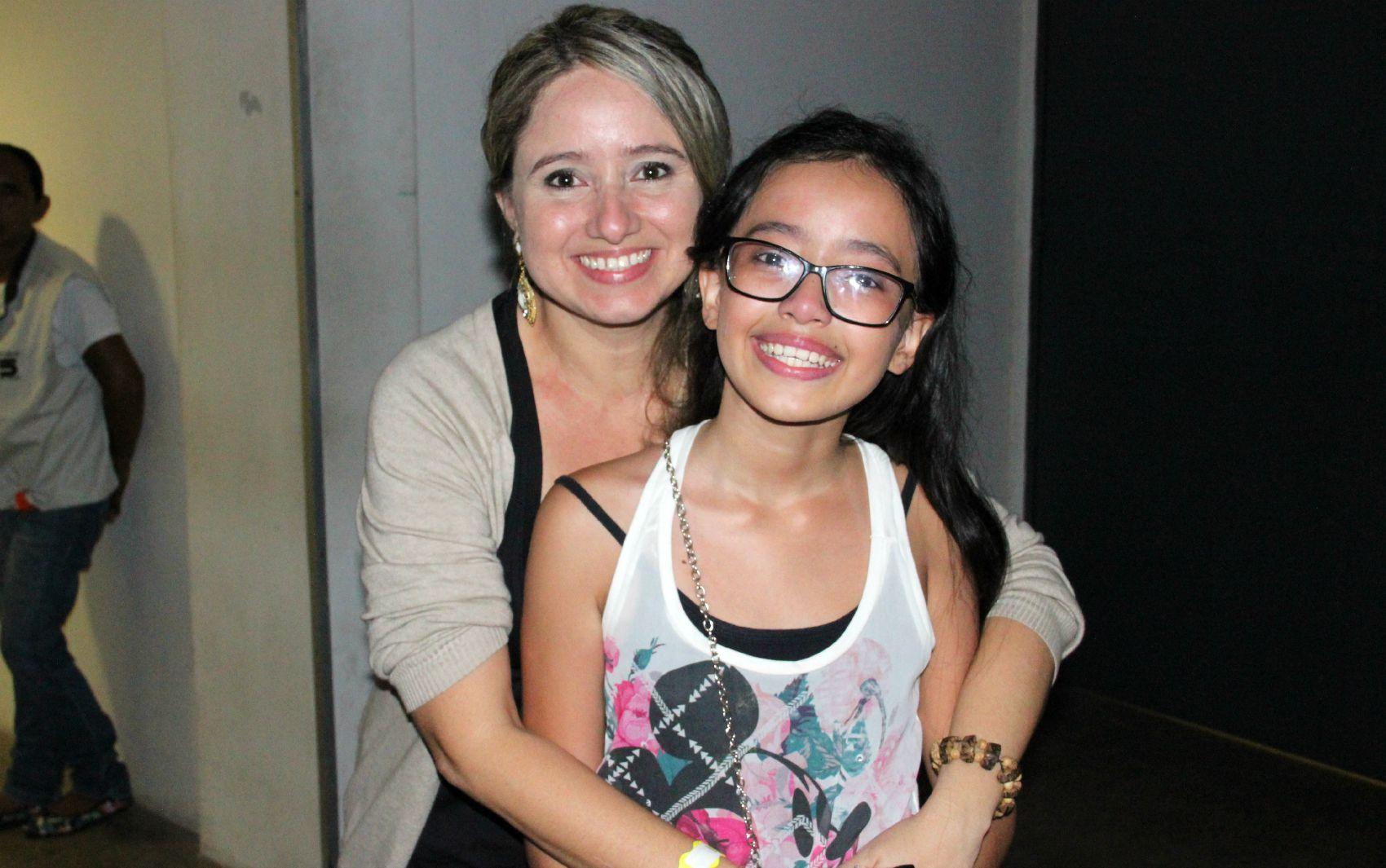 Ingra Dutra, de 10 anos, tentou conhecer ídolo por incentivo da mãe, a professora Ingrid Dutra