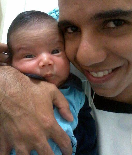 """""""Meu primeiro dia dos Pais com o meu filho Samuel Willian."""" Wilton – Recife/PE"""